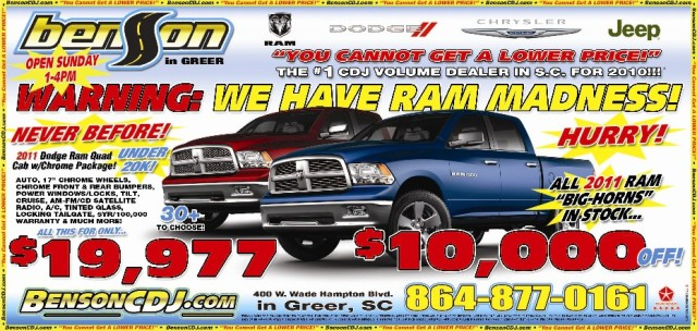 Big Horn Trucks $10,000 Off