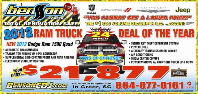 Why settle for a 2011 Ram when the 2012 model is on sale?