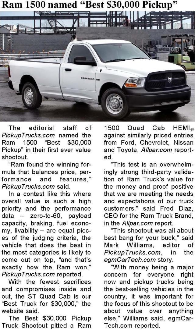 PickupTrucks.com Rates the Ram 1500 The Best!